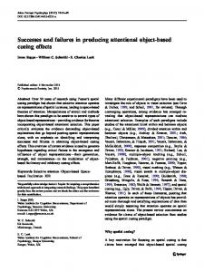 Successes and failures in producing attentional object-based cueing effects