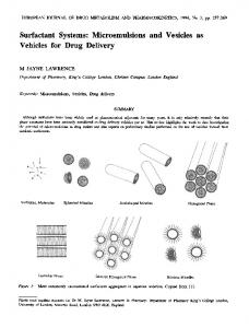 Surfactant systems: Microemulsions and vesicles as vehicles for drug delivery