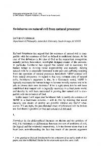 Swinburne on natural evil from natural processes