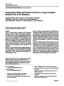 Symptomatic Males and Female Carriers in a Large Caucasian Kindred with XIAP Deficiency
