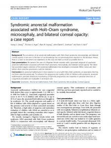 Syndromic anorectal malformation associated with Holt–Oram syndrome, microcephaly, and bilateral corneal opacity: a case report