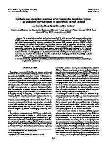 Synthesis and adsorption properties of carbamazepine imprinted polymer by dispersion polymerization in supercritical carbon dioxide