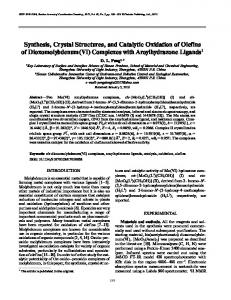Synthesis, crystal structures, and catalytic oxidation of olefins of dioxomolybdenum(VI) complexes with aroylhydrazone ligands