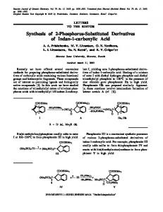 Synthesis of 2-Phosphorus-Substituted Derivatives of Indan-1-carboxylic Acid