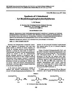 Synthesis of 2-substituted 3,4-bis(diethoxyphosphorylmethyl)furans