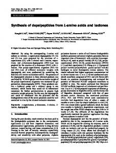 Synthesis of depsipeptides from L-amino acids and lactones