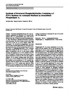 Synthesis of Structured Phosphatidylcholine Containing n-3 PUFA Residues via Acidolysis Mediated by Immobilized Phospholipase A1
