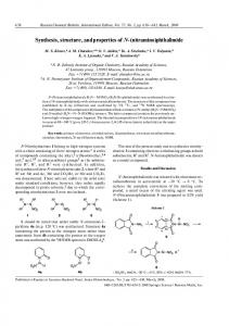 Synthesis, structure, and properties of N-(nitramino)phthalimide