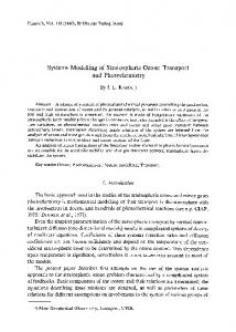 Systems modelling of stratospheric ozone transport and photochemistry