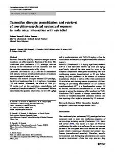 Tamoxifen disrupts consolidation and retrieval of morphine-associated contextual memory in male mice: interaction with estradiol