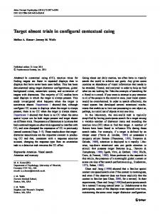 Target absent trials in configural contextual cuing