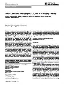 Tarsal Coalitions: Radiographic, CT, and MR Imaging Findings