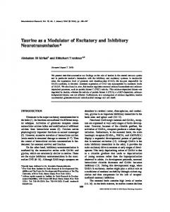 Taurine as a Modulator of Excitatory and Inhibitory Neurotransmission