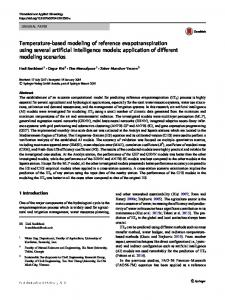 Temperature-based modeling of reference evapotranspiration using several artificial intelligence models: application of different modeling scenarios