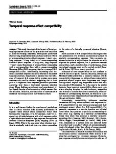 Temporal response-effect compatibility