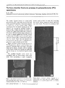 Tertiary ductile fracture process in polycarbonate (PC) specimens