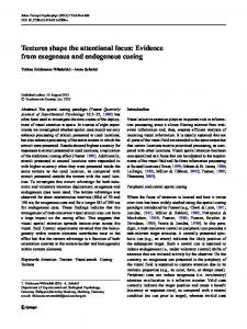 Textures shape the attentional focus: Evidence from exogenous and endogenous cueing