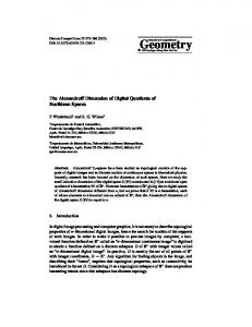 The Alexandroff Dimension of Digital Quotients of Euclidean Spaces