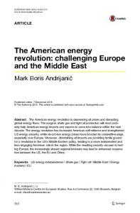 The American energy revolution: challenging Europe and the Middle East