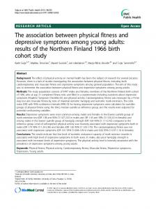 The association between physical fitness and depressive symptoms among young adults: results of the Northern Finland 1966 birth cohort study