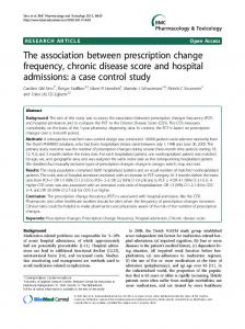 The association between prescription change frequency, chronic disease score and hospital admissions: a case control study