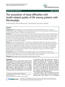 The association of sleep difficulties with health-related quality of life among patients with fibromyalgia