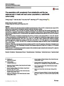 The association with xerostomia from sialadenitis and the jaw osteonecrosis in head and neck cancer population: a nationwide cohort study