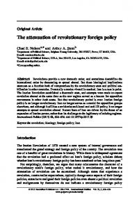 The attenuation of revolutionary foreign policy