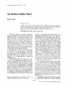 The Bardeen-Stephen theory