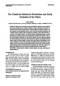 The cambrian substrate revolution and early evolution of the phyla
