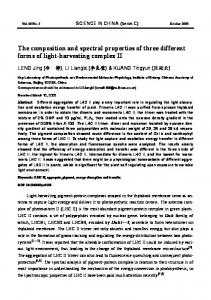 The composition and spectral properties of three different forms of light-harvesting complex II