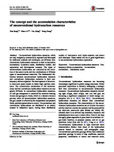 The concept and the accumulation characteristics of unconventional hydrocarbon resources