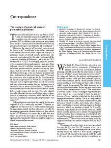 The concepts of assent and parental permission in pediatrics