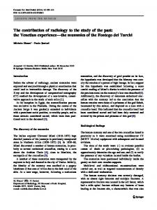 The contribution of radiology to the study of the past: the Venetian experience—the mummies of the Fontego dei Turchi