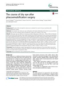 The course of dry eye after phacoemulsification surgery