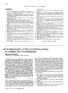 The Determination of Fatty Acid Primary Amides by Capillary Gas Chromatography