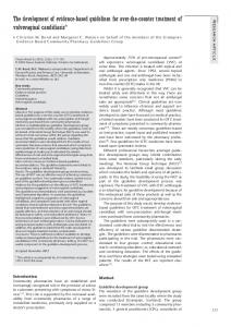 The development of evidence‐ based guidelines for over‐ the‐ counter treatment of vulvovaginal candidiasis