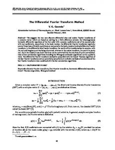 The differential Fourier transform method