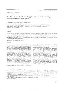 The Effect of Activated Charcoal Supplemented Media to Browning of In Vitro Cultures of Piper species