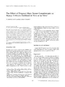 The effect of pregnant mare serum gonadotropin on mouse embryos fertilized in vivo or in vitro