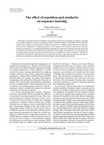 The effect of repetition and similarity on sequence learning