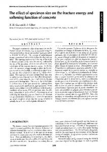 The effect of specimen size on the fracture energy and softening function of concrete
