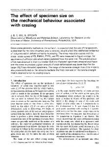 The effect of specimen size on the mechanical behaviour associated with crazing