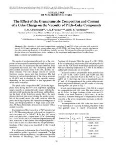 The effect of the granulometric composition and content of a coke charge on the viscosity of pitch-coke compounds