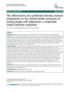 The effectiveness of a preferred intensity exercise programme on the mental health outcomes of young people with depression: a sequential mixed methods evaluation