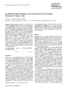 The effects of induced hypoxia on the cardiovascular system in dogs poisoned with tetanus toxin