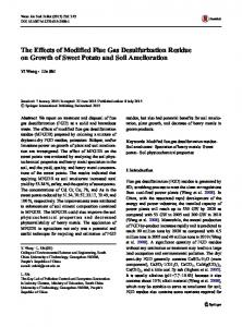 The Effects of Modified Flue Gas Desulfurization Residue on Growth of Sweet Potato and Soil Amelioration