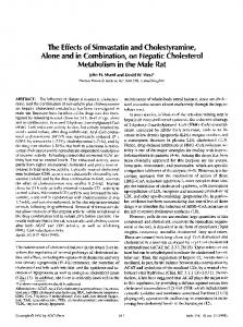 The effects of simvastatin and cholestyramine, alone and in combination, on hepatic cholesterol metabolism in the male rat