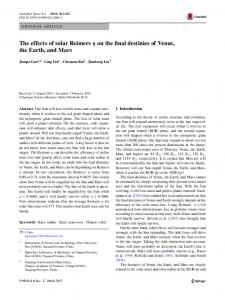 The effects of solar Reimers \(\eta\)  on the final destinies of Venus, the Earth, and Mars
