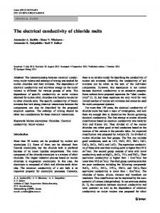 The electrical conductivity of chloride melts
